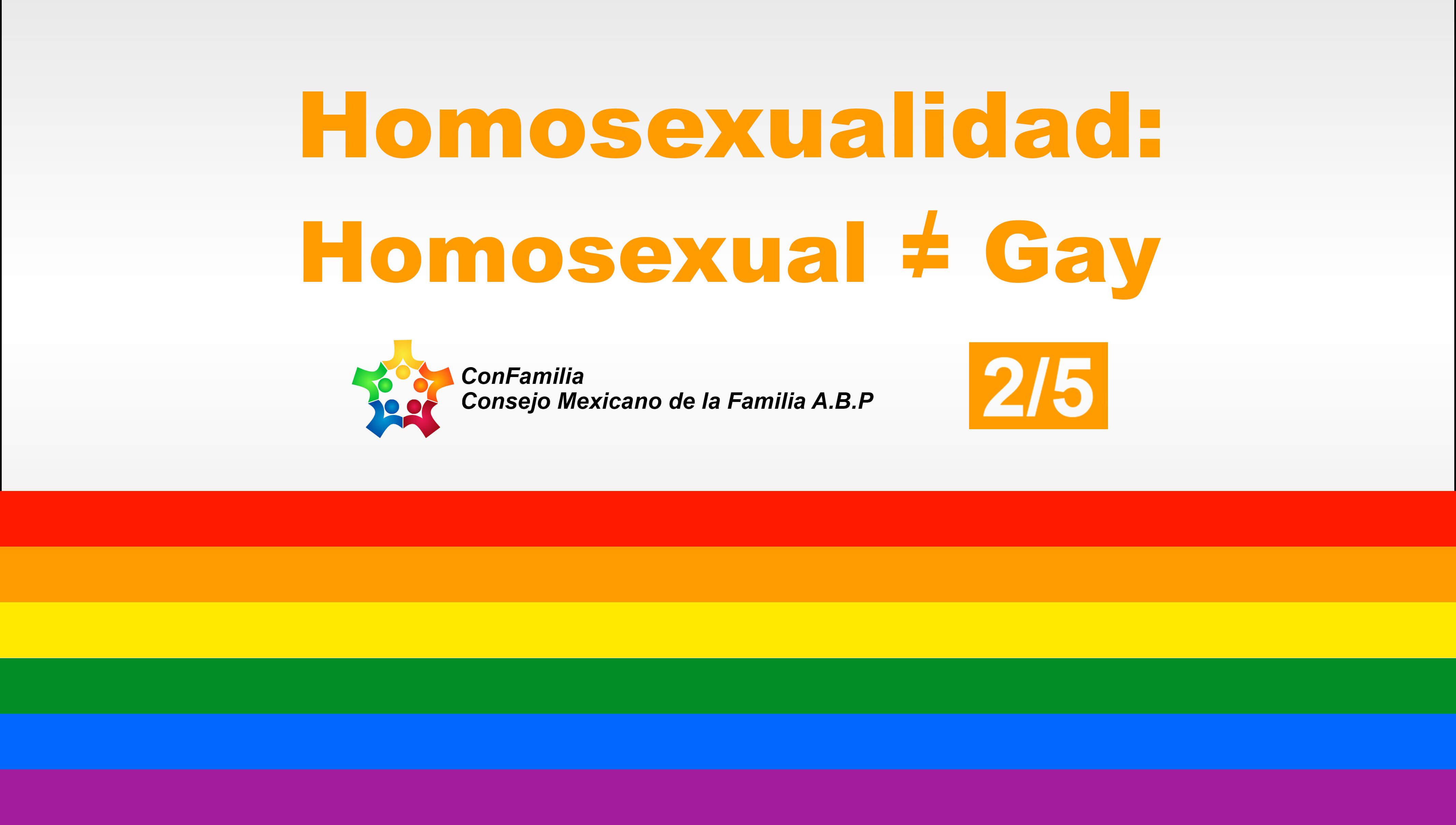 No todos los homosexuales son gays…