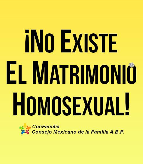 ¡No Existe el Matrimonio Homosexual!