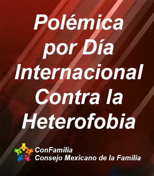 Polémica por Día Internacional Contra la Heterofobia