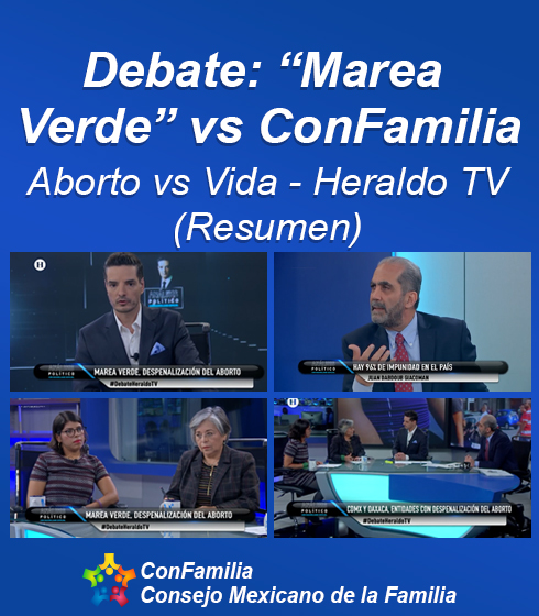 Debate: «Marea Verde» vs ConFamilia