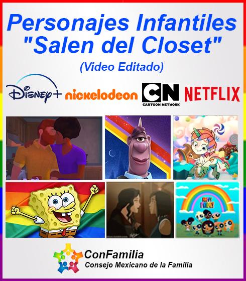 Personajes Infantiles «Salen del Closet»