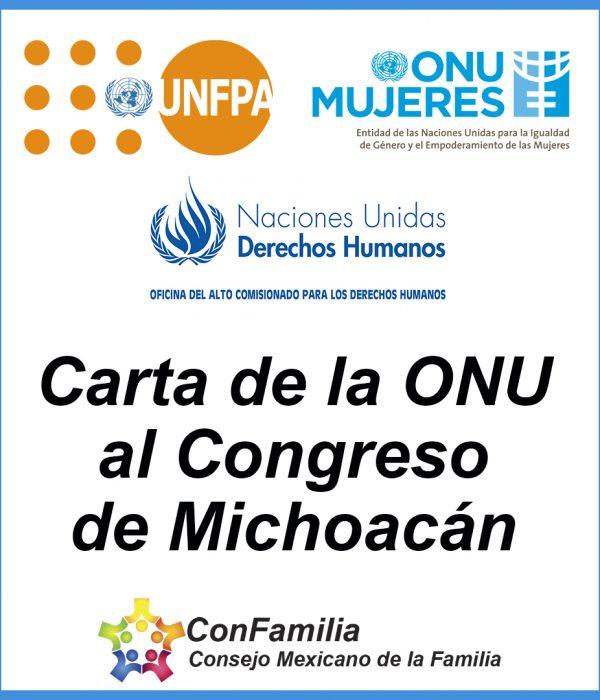 Carta de la ONU a Congreso de Michoacán